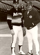 Nolan Ryan and Pete Rose 1984