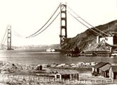 The Golden Gate Bridge. Fort Baker 1935