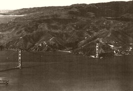 Above the Golden Gate. Marin Headlands. 1935