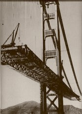 Building The Golden Gate. Fort Point 1936
