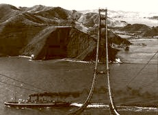 Building The Golden Gate. Ocean Bound 1935